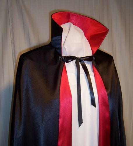 Details About Dracula Dramatic Cape Large Collar Vampire