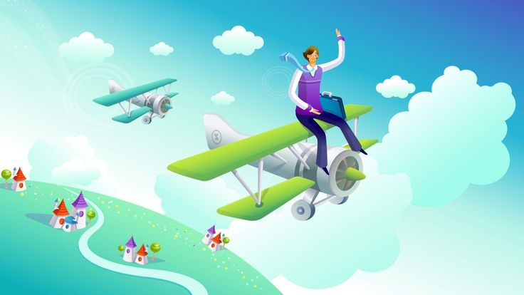 airplane 3d animation wallpaper