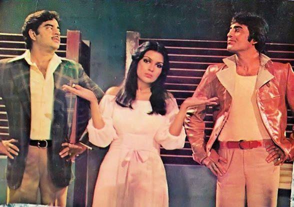 Zeenat Aman (Radha) Vinod Khanna (Kanhaiya)   Shatrughan Sinha (Kishan)