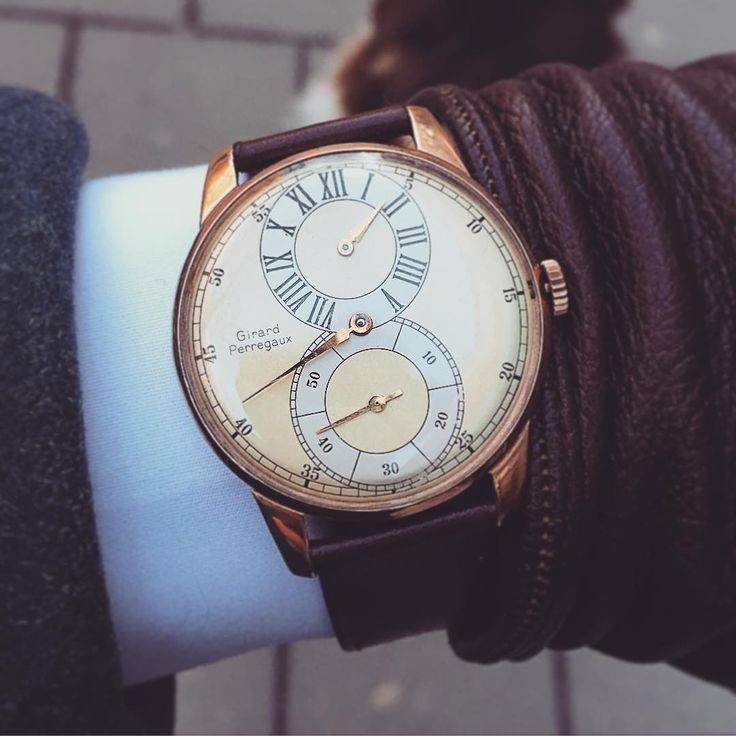 ...And a third beautiful vintage timepiece. Girard Perregaux regulator watch.  #girardperregaux #girardperregauxwatch #vintagewatch #menswear #mensstyle #timepiece #wristwatch