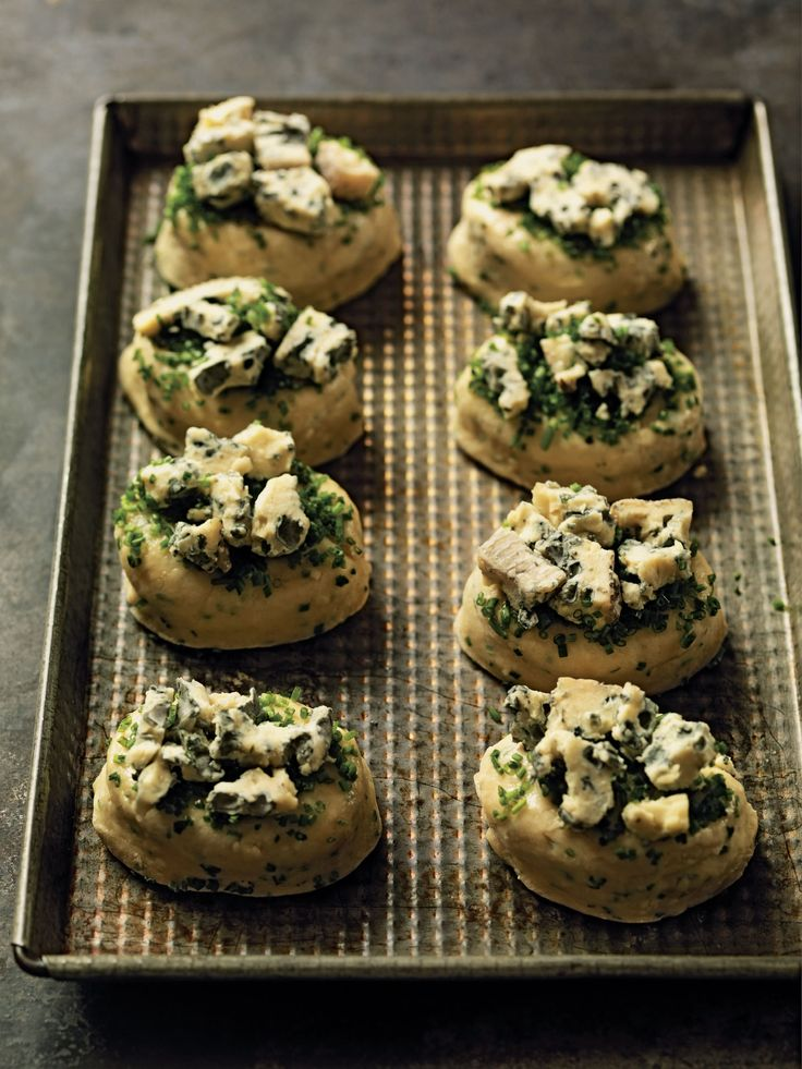 Blue cheese and chive scones recipe from Mark Hix On Baking by Mark Hix   Cooked