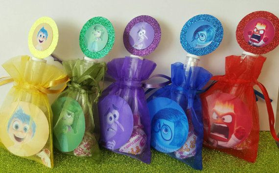 12 Disney Inside Out Birthday Party Favors by caliknowshowtoparty
