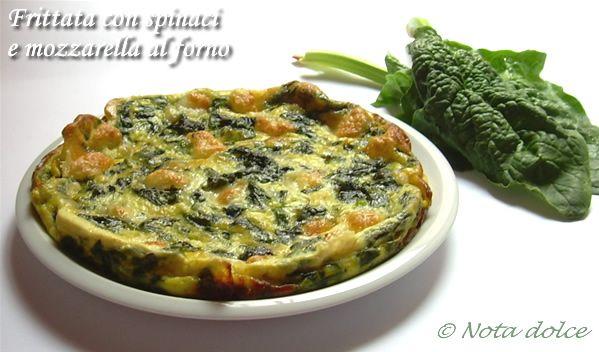 Frittata con spinaci e mozzarella al forno, ricetta