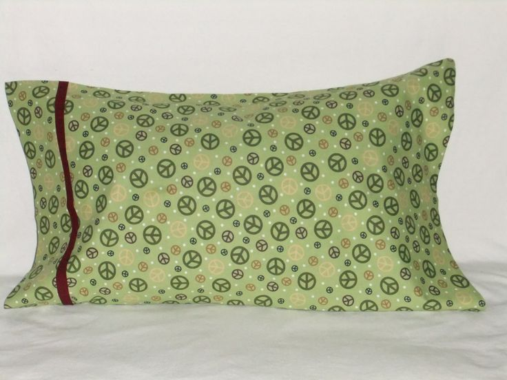"""PEACE #2 PILLOWCASE - 20"""" x 35"""" by KatiesCOVERS on Etsy"""