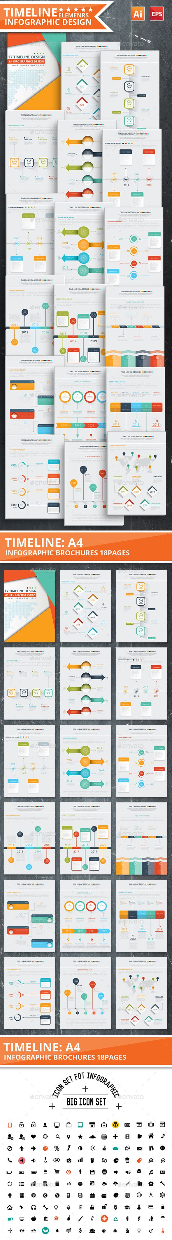 TimeLine Infographic Template Vector EPS, AI #design Download: http://graphicriver.net/item/timeline-infographic-design/13609609?ref=ksioks