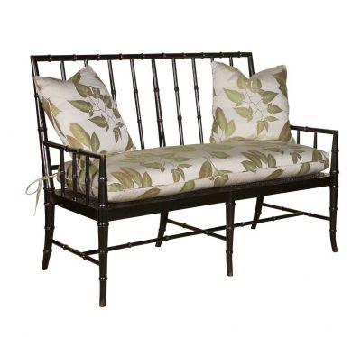 Woodbridge Bamboo Regency Settee. Read more about Woodbridge Furniture in our blog post   http://www.goodshomefurniture.com/?p=2462