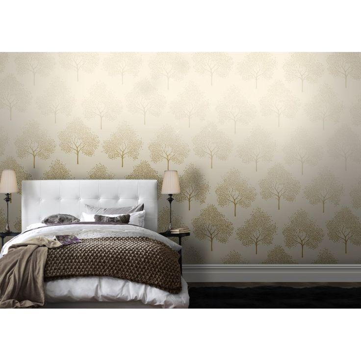 Love Wallpaper For Bedroom : I Love Wallpaper Glitter Tree Wallpaper cream / Gold Glitter Decor - Wallpaper & Paint ...