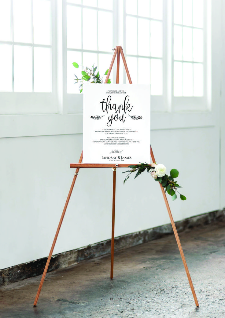 Wedding Thank You/Welcome Sign www.thevowweddings.com
