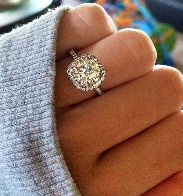 20 brilliant cushion cut wedding engagement rings - Pics Of Wedding Rings