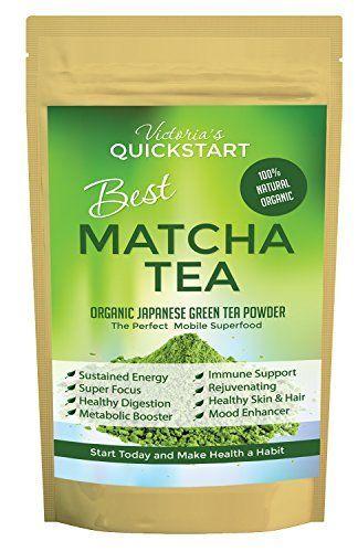 Best Matcha Tea Powder Fat Burner Flow State Energy Mood Brain Food Memory, Focus Paleo Ketogenic Glycemic Diets Antioxidants Includes $19 Superfood Organic Matcha Tea E-book Free! - Skin Tight Naturals