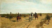 Patrol powstańczy - pikieta – obraz Maksymiliana Gierymskiego