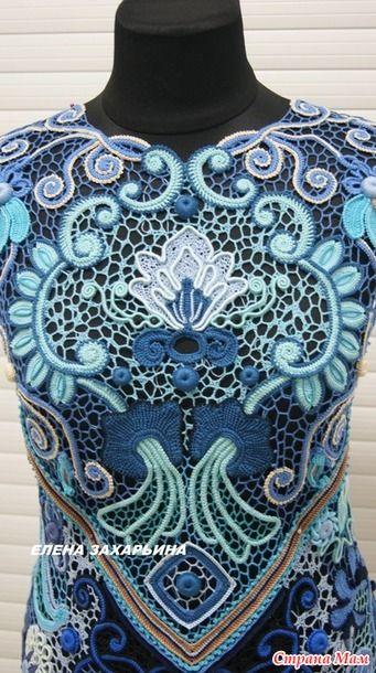 И снова здравствуйте! Готово мое новое платье. 60 размер, манекен правда 48) Вид не тот но все же). Пряжа виолет, анна-16, канариес и алтин басак. Крючки 0,65 и 1,00. И так как это было...