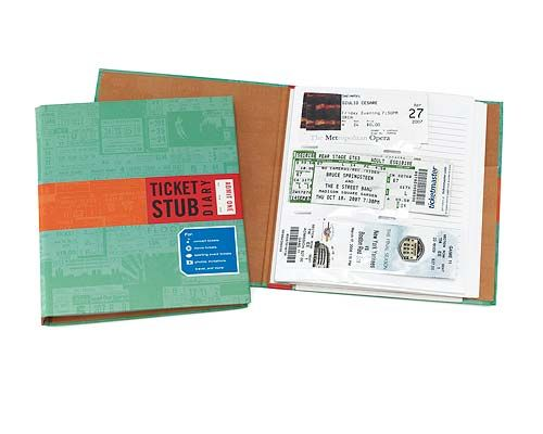 ith this Ticket Stub Diary you can preserve your precious memories from concerts, museums, movies, sporting events, Broadway shows and more.