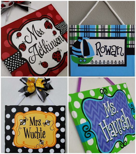 Looking for the perfect Christmas gift for your child's teacher? Hand-painted, custom name signs are the ideal choice & today only they ship for FREE #SmallBusinessSaturday #ShopSmall