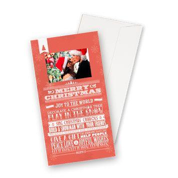 Postales Navidad 18X9,5cm, 1 cara, vertical