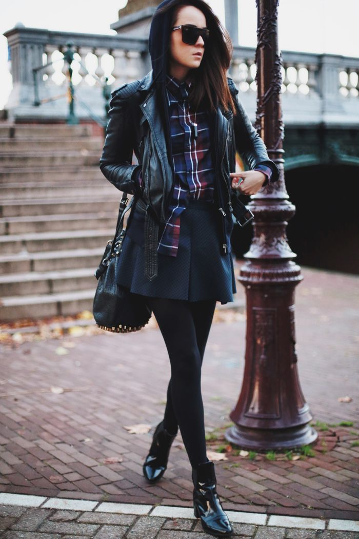 "i like seeing how flannel works in ""classy"" outfits"