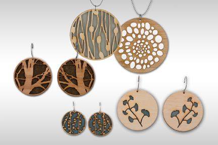May 2010: Lasercut Jewelry by Molly M Designs