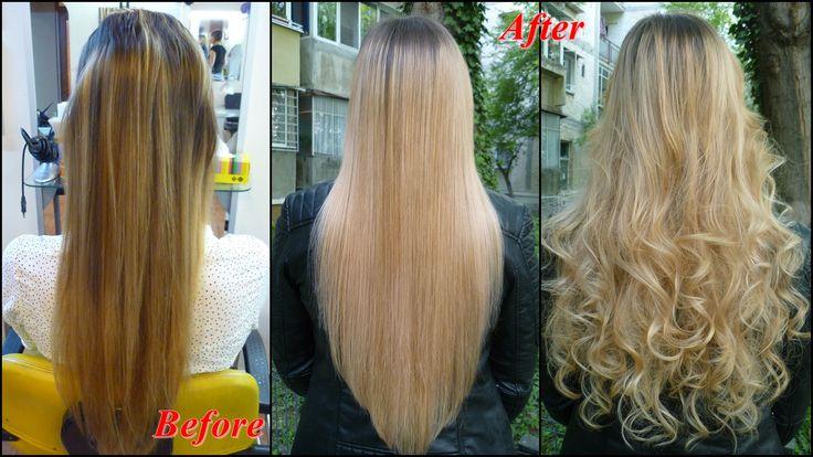 Olaplex în acțiune pe un păr extrem de dificil, deja decolorat de 2 ori. Produsul acționează ca un pansament și împiedică pierderea keratinei din păr. Repară, fortifică, întărește și face părul mătăsos și strălucitor. Efectul a fost imediat. Restructurarea părului s-a simțit de la prima aplicare.