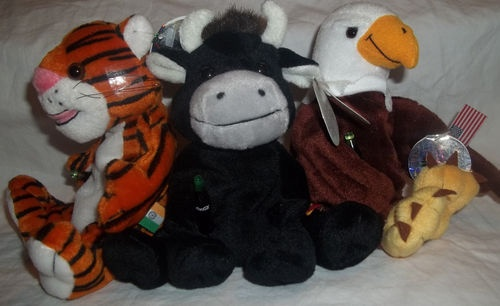 Coca Cola International Beenie Baby Reegle Eagle Toro Bull Curry Tiger Lot 3 | eBay
