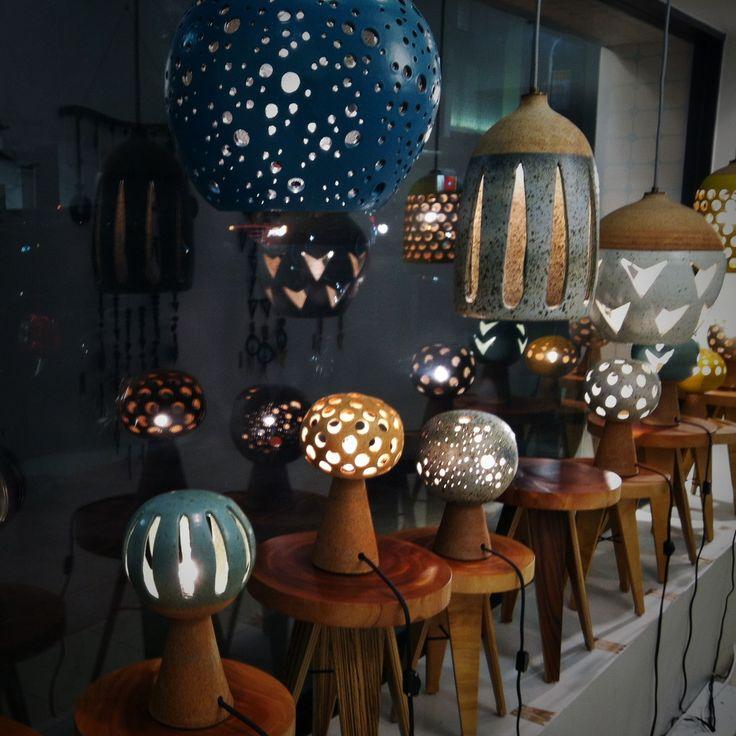 Heather Levine ceramic lamps
