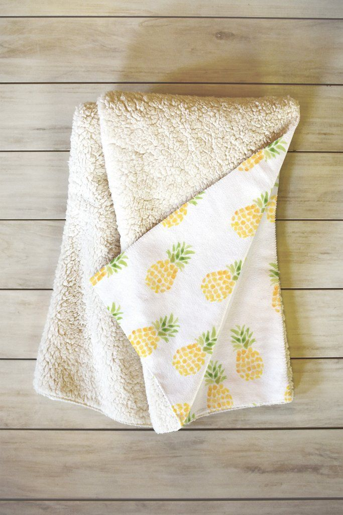 Wonder Forest Pineapple Express Fleece Throw Blanket | DENY Designs Home Accessories