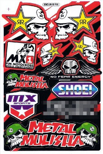 Rockstar energy metal mulisha graphic sticker decal bike atv dirt stickersport http