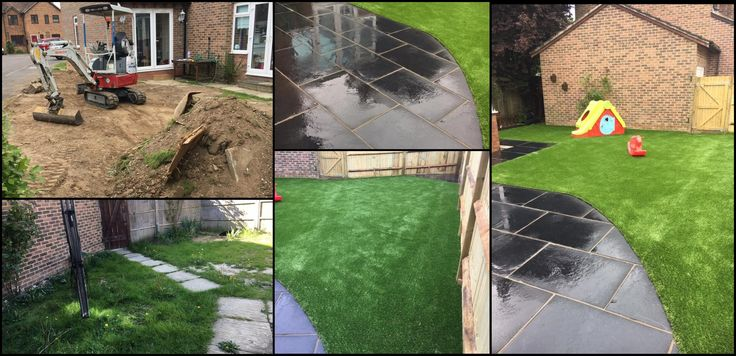 Stunning Garden Transformation, creating an open space for children to play all year round :)