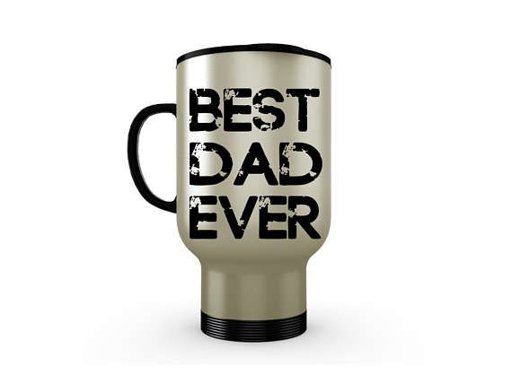 Stainless Steel Coffee Travel Mug, Best Dad Ever, Custom Travel Mug, Father's Day Gift, Unique Leak Proof, Travel Insulated Coffee Mug,14 oz