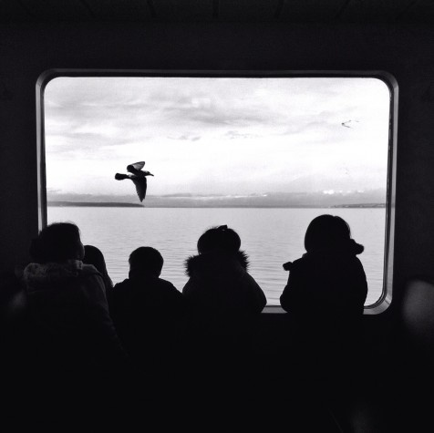 fantastic shot of #kids on a #ferry taken by @bradpuet in #Seattle