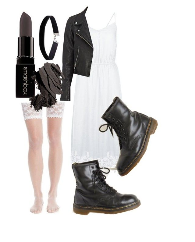"""Bride of Chucky"" by holycandyflossbatman on Polyvore featuring Charnos, New Look, Dr. Martens, Étoile Isabel Marant, Miss Selfridge, Smashbox, Bobbi Brown Cosmetics, Halloween, Costume and cosplay"