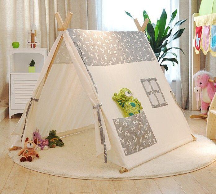 Popular 100% algodão kid tenda tenda marinheiros crianças bebê de algodão puro tendas tendas casa de lazer coberta fotografia tenda em Barracas de Brinquedos & Lazer no AliExpress.com | Alibaba Group