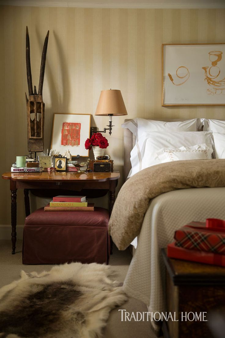 Bedroom sitting area traditional bedroom jan showers - A Designer S Festive Country House Traditional Home