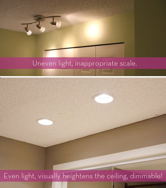 Lighting makes such a difference in any space check out this tutorial for installing recessed