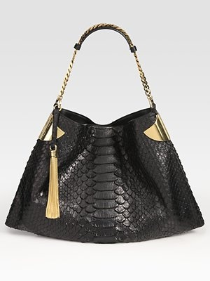 1970 Medium Python Shoulder Bag