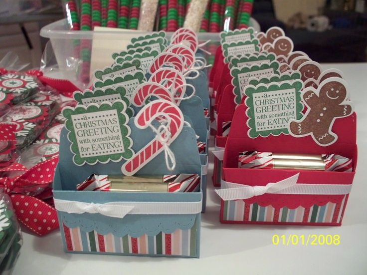 Christmas Craft Fair, Scallop Box Chocolates $3.00  Scallop Envelope Boxes w/2 Ghirardelli Peppermint Bark squares. I rolled Scotch tape and stuck it to the bottom of the candies/together so they'd remain in the box.by Donna Wicks on St. Conn.