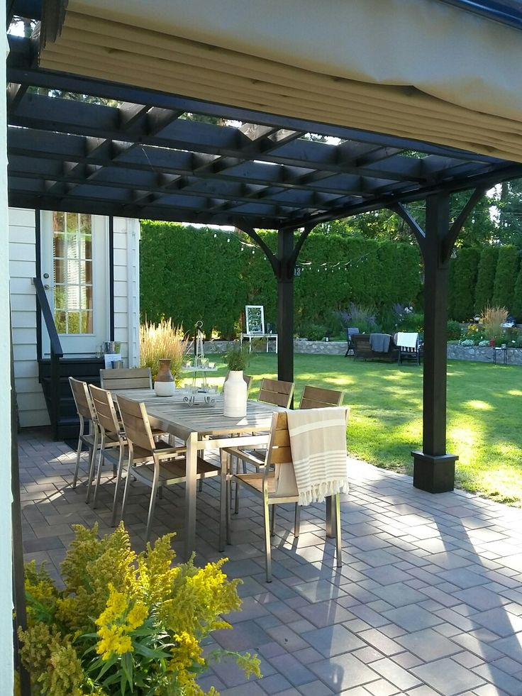 summer morning pergola