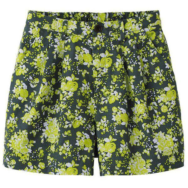 UNIQLO Women Cotton Flare Shorts ($5.90) ❤ liked on Polyvore featuring shorts, bottoms, short, pants, uniqlo shorts, uniqlo, short shorts, flared shorts and cotton shorts