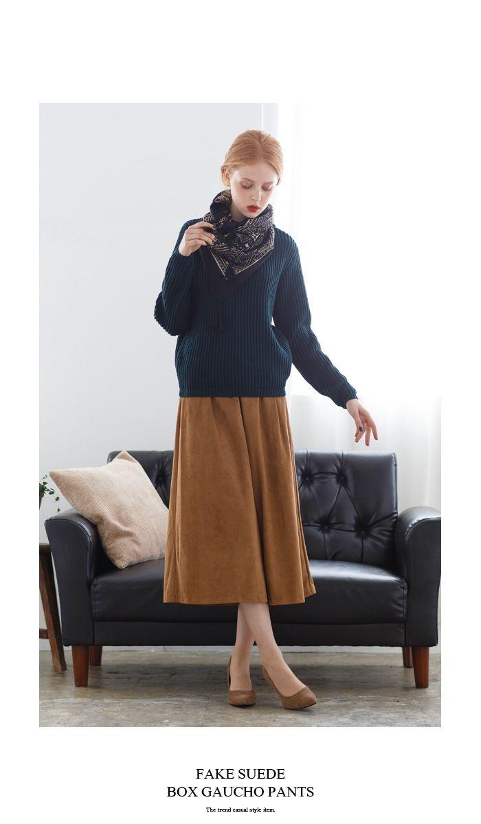 フェイクスウェードボックスガウチョパンツ【メール便可/90】通販 |titivate【公式】20代・30代・40代レディースファッション・洋服通販