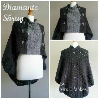 Mrs U Makes...: Diamanté Shrug @MrsUMakes #mymrsumakes