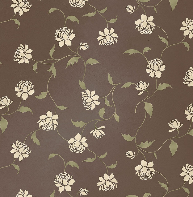 Wall Stencil PeonyCut Edging, Beautiful Wall, Edging Stencils, Stencils Pattern, Peonies Allover, Stencils Peonies, Wall Stencils, Bedrooms Wall, Accent Wall