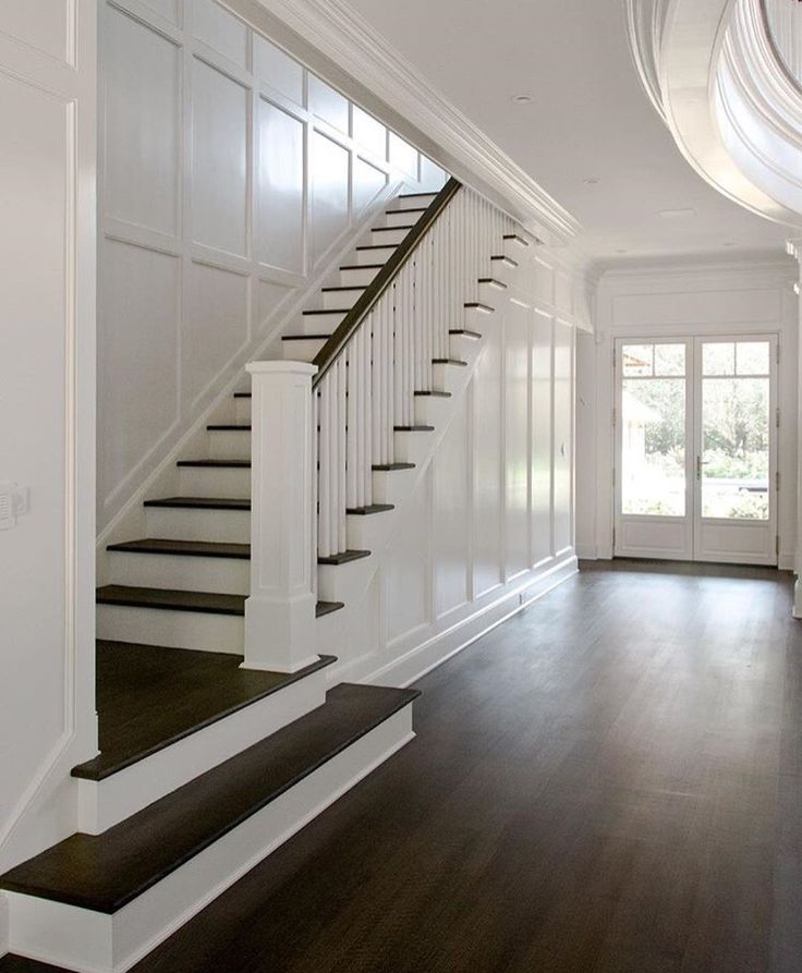 Grey Panelling Under Stairs: Stairwell Ideas. I Like The Texture On The Walls...could