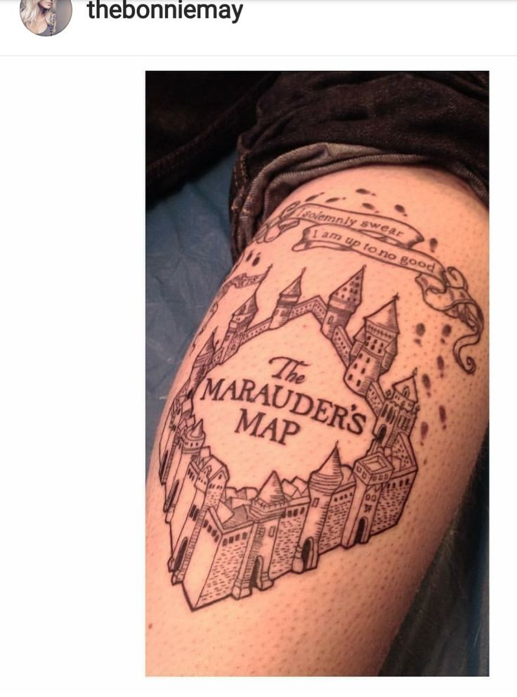 Tattoo Harry Potter map