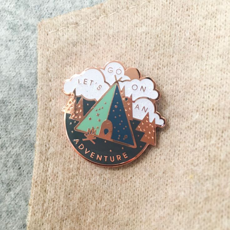 Adventure Gold Hard Enamel Pin by sparrowandwolfshop on Etsy
