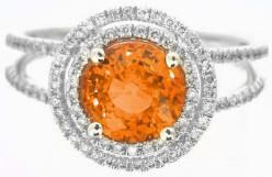 Orange Sapphires - Ringspotters: Engagement Ring Ideas