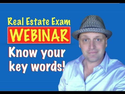 Know your Key Words for the Real Estate Exam! - http://www.sportfoy.com/know-your-key-words-for-the-real-estate-exam/