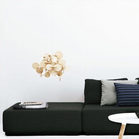 Bau luz de la lámpara colgante de madera de enclavamiento