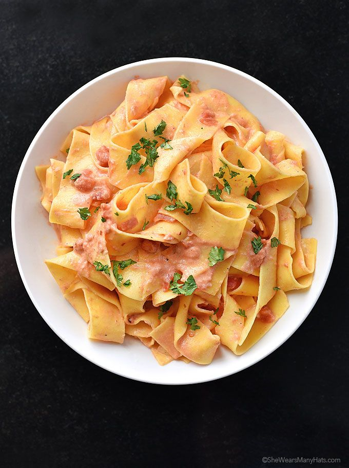 Pasta with Vodka Sauce | She Wears Many Hats