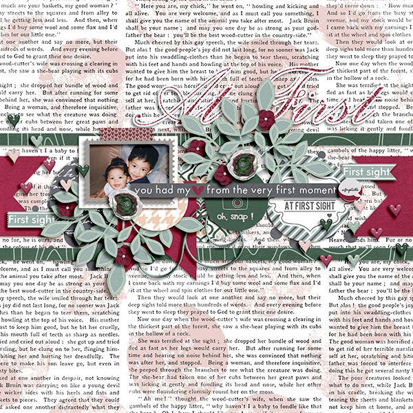 Bramble Sour by Little Green Frog Designs. At First {Bundle Pack] by Pixelily Designs.