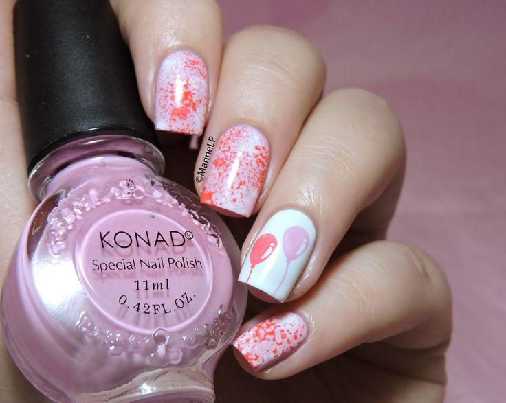 Joyeux anniversaire blogounet ! - Birthday nails - balloon nails - Bundle Monster BM-H20