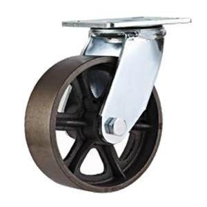 """Roulettes pivotantes en fonte  Matériau de la roue: roue de fonte  Taille: 4 """"x 50mm; 5"""" x 50mm; 6 """"x 50 mm; 8"""" x 50 mm  Capacité de chargement: 250 kg 500 kg-  Type de roulement: double rangée de billes  Type d'option: plaque pivotante, rigide  But: roulettes de racks mobiles, roulettes de transport, roulettes de camions utilitaires, de stockage racks roulettes, roulettes de support de pieds"""